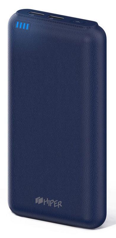 Мобильный аккумулятор Hiper SP20000 Li-Ion 20000mAh 2.1A+1A синий 2xUSB
