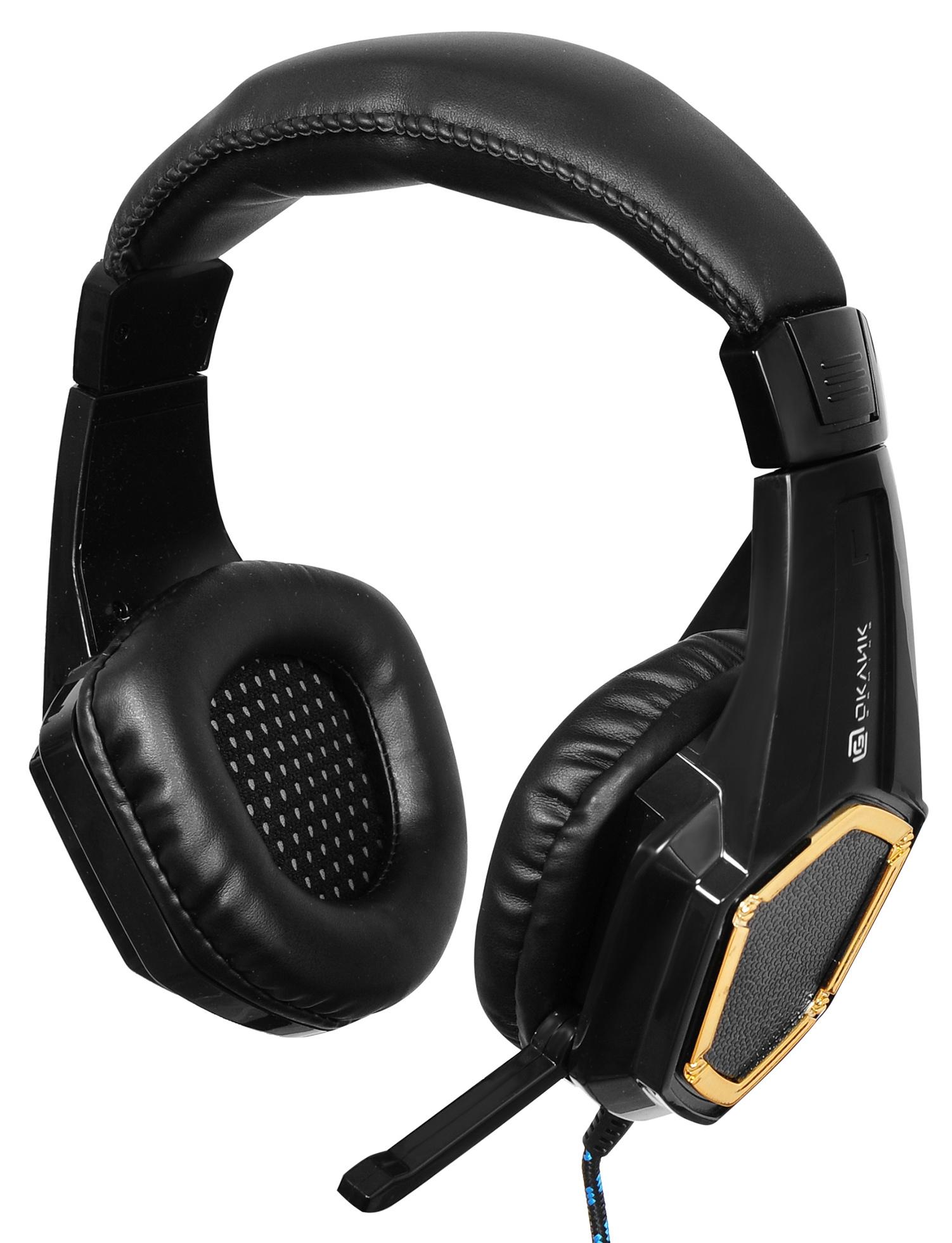 Наушники с микрофоном Oklick HS-L310G Guardian черный 1.5м мониторы оголовье (LPS-1530)
