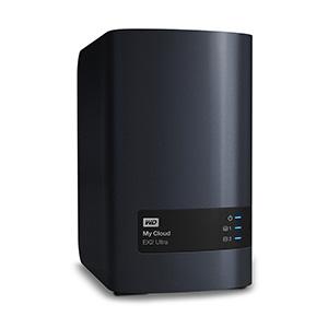 Сетевое хранилище NAS WD Original 8Tb WDBSHB0080JCH-EEUE My Cloud EX2 Ultra 2xDisk 2-bay