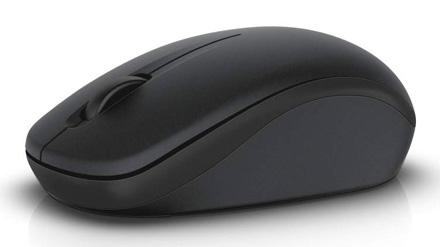 Мышь Dell WM126 черный/Tattoo оптическая (1000dpi) беспроводная USB (3but)