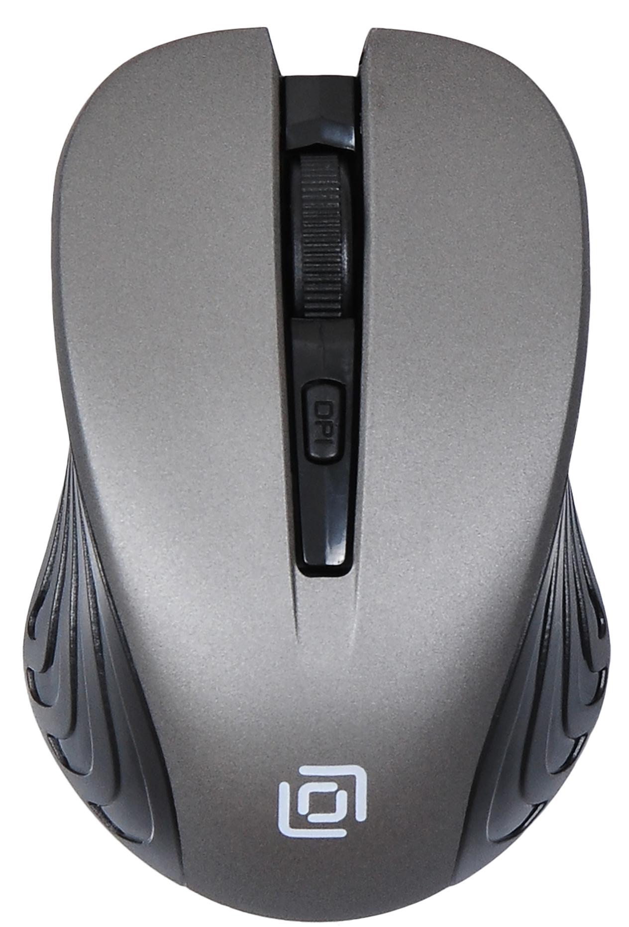 Мышь Oklick 545MW черный/серый оптическая (1600dpi) беспроводная USB (3but)