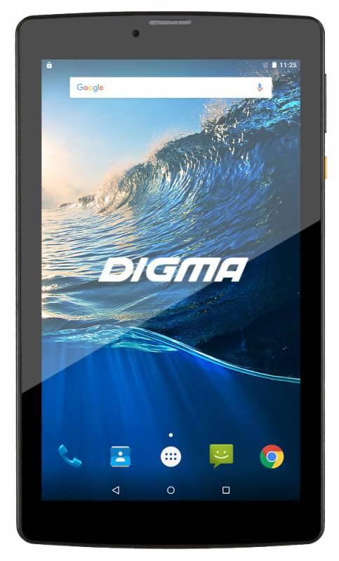 "Планшет Digma Plane 7006 4G MTK8735P (1.3) 4C/RAM1Gb/ROM8Gb 7"" IPS 1024x600/3G/4G/Android 7.0/черный/2Mpix/0.3Mpix/BT/GPS/WiFi/Touch/microSDHC 32Gb/minUSB/2800mAh"
