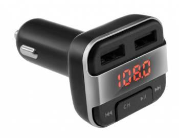 Автомобильный FM-модулятор Neoline Rave FM черный MicroSD BT USB PDU