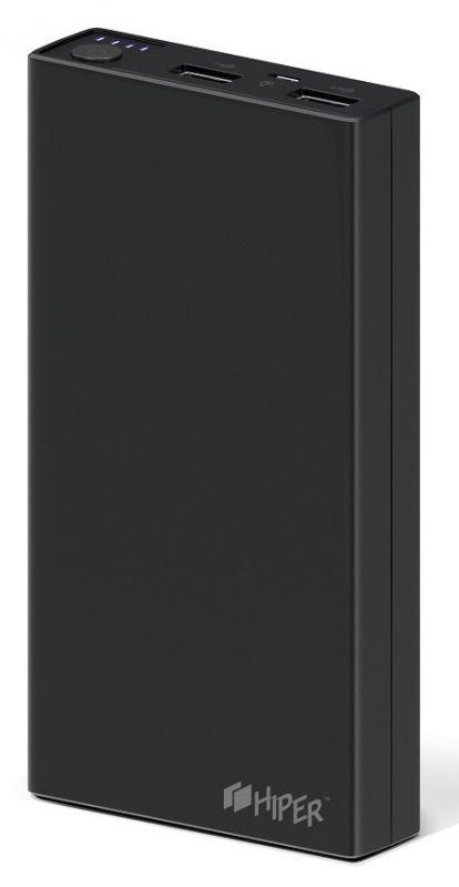 Мобильный аккумулятор Hiper RP15000 Li-Ion 15000mAh 2.1A+1A черный 2xUSB