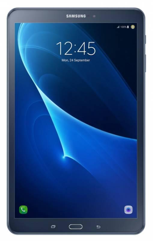 "Планшет Samsung Galaxy Tab A SM-T585N (1.6) 8C/RAM2Gb/ROM16Gb 10.1"" TFT 1920x1200/3G/4G/Android 6.0/темно-синий/8Mpix/2Mpix/BT/GPS/WiFi/Touch/microSD 200Gb/minUSB/7300mAh/13hr"