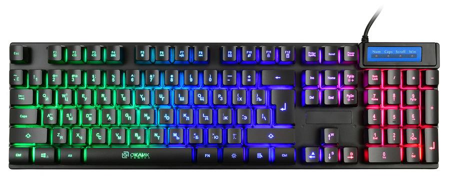 Клавиатура Oklick 760G GENESIS черный USB for gamer LED