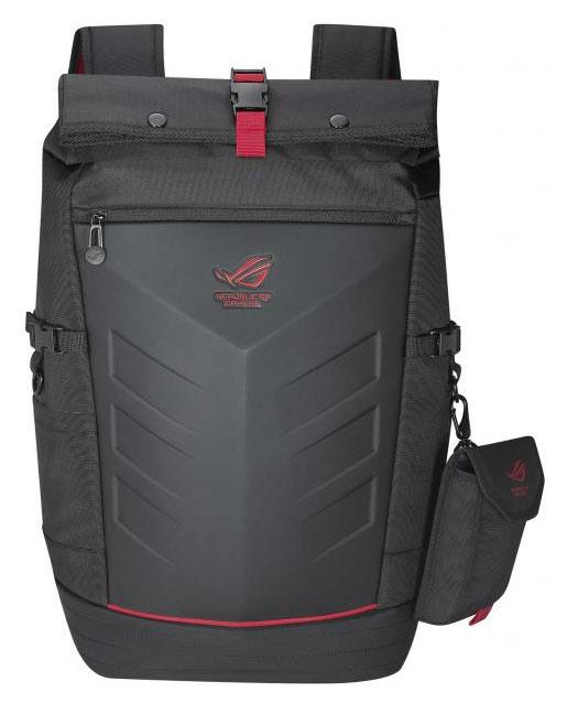 """Рюкзак для ноутбука 17"""" Asus ROG Ranger черный/красный нейлон/резина (90XB0310-BBP010)"""