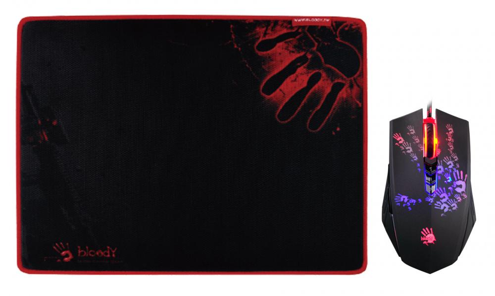 Мышь A4 Bloody A6081 черный/Tattoo оптическая (4000dpi) USB2.0 игровая (8but)