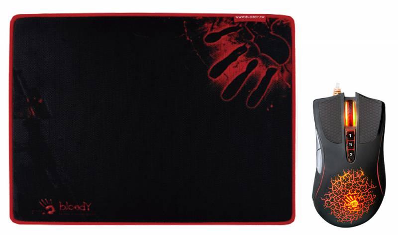 Мышь A4 Bloody A9081 черный оптическая (4000dpi) USB2.0 игровая (8but)