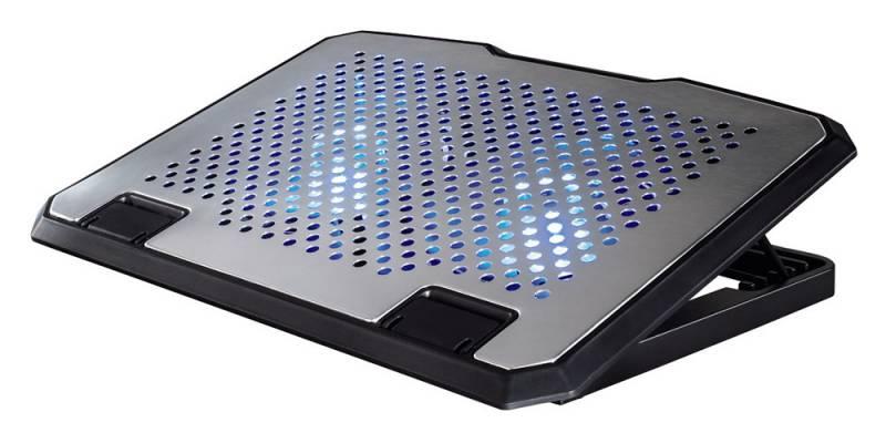 "Подставка для ноутбука Hama H-53064 (00053064) 15.6""270x370x30мм 23дБ 2x 140ммFAN 698г алюминий/пластик серебристый"
