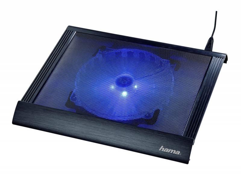 """Подставка для ноутбука Hama Business (00053061) 17.3""""305x350x38мм 20дБ 2xUSB 1x 200ммFAN 814г пластик черный"""