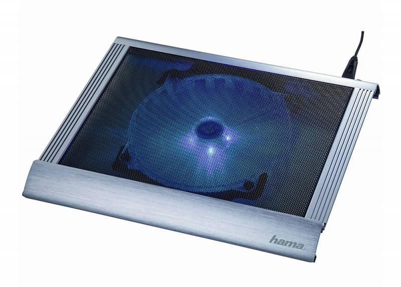 "Подставка для ноутбука Hama Business (00053062) 17.3""305x350x38мм 20дБ 2xUSB 1x 200ммFAN 814г пластик серый"