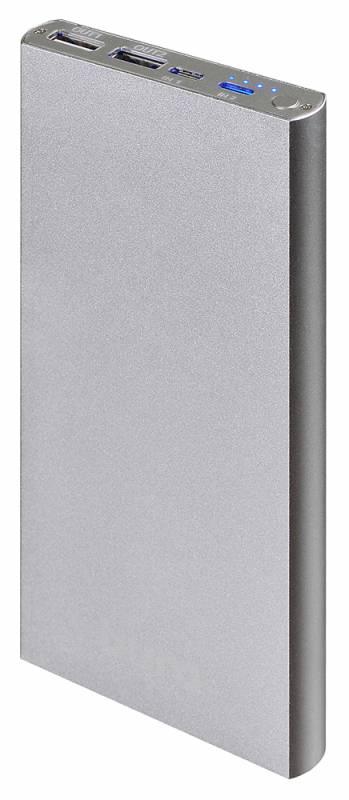 Мобильный аккумулятор Buro RA-12000-AL Li-Pol 12000mAh 2.1A+1A серебристый 2xUSB