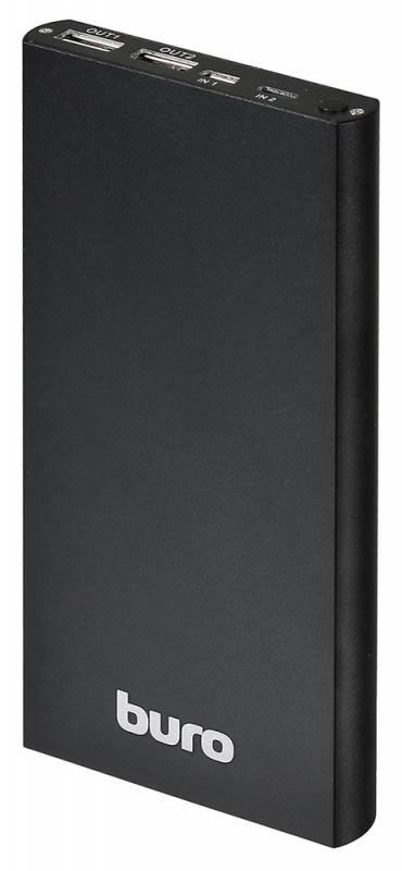 Мобильный аккумулятор Buro RA-12000-AL-BK Li-Pol 12000mAh 2.1A+1A черный 2xUSB