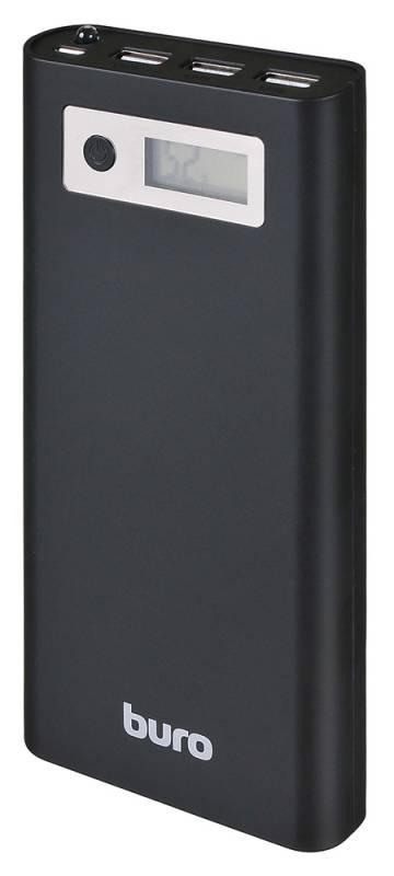 Мобильный аккумулятор Buro RA-16000-3U-LCD-BK Li-Ion 16000mAh 2.1A+1A+1A черный 3xUSB