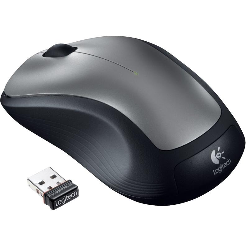 Мышь Logitech M310 черный/серебристый оптическая (1000dpi) беспроводная USB1.1 для ноутбука (2but)