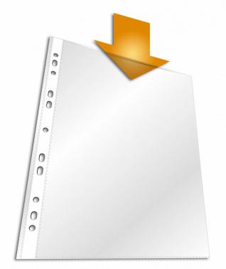 Папка-вкладыш Durable 2656-19 прозрачный матовые А4 вертикальный 60мкм (упак.:10шт)