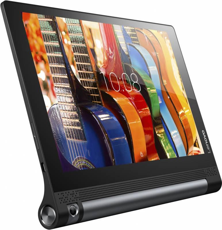 "Планшет Lenovo Yoga Tablet 3 YT3-X50 MSM8909 (1.3) 4C/RAM2Gb/ROM16Gb 10.1"" IPS 1280x800/3G/4G/Android 5.1/черный/8Mpix/BT/GPS/WiFi/Touch/microSD 128Gb/minUSB/8400mAh/18hr"