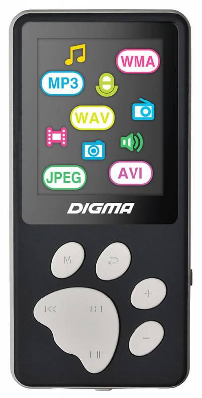 Плеер Flash Digma S3 4Gb черный/серый/1.8