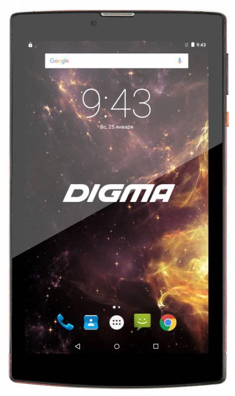 "Планшет Digma Plane 7012M 3G MT8321 (1.3) 4C/RAM1Gb/ROM8Gb 7"" IPS 1024x600/3G/Android 7.0/красный/черный/2Mpix/0.3Mpix/BT/GPS/WiFi/Touch/microSD 64Gb/minUSB/2800mAh"