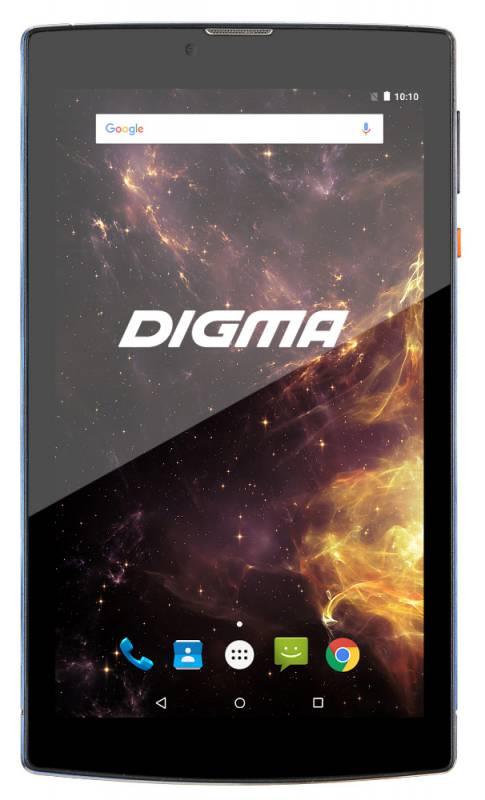 "Планшет Digma Plane 7012M 3G MT8321 (1.3) 4C/RAM1Gb/ROM8Gb 7"" IPS 1024x600/3G/Android 7.0/синий/черный/2Mpix/0.3Mpix/BT/GPS/WiFi/Touch/microSD 64Gb/minUSB/2800mAh"