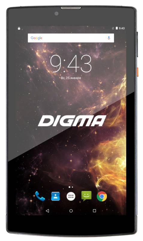 "Планшет Digma Plane 7012M 3G MT8321 (1.3) 4C/RAM1Gb/ROM8Gb 7"" IPS 1024x600/3G/Android 7.0/голубой/черный/2Mpix/0.3Mpix/BT/GPS/WiFi/Touch/microSD 64Gb/minUSB/2800mAh"