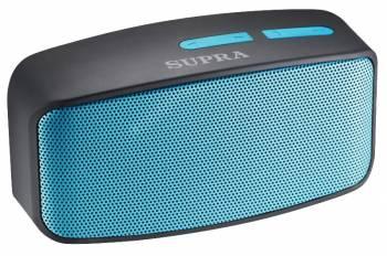 Аудиомагнитола Supra BTS-530 черный/голубой 3Вт/MP3/FM(dig)/USB/BT/microSD