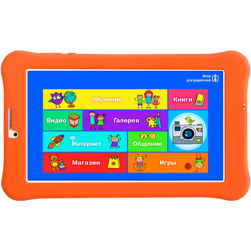 "Планшет Turbo TurboKids 3G C3230/RAM1Gb/ROM8/7""/3G/WiFi/BT/2Mpix/0.3Mpix/GPS/Android 5.1/белый/оранжевый"