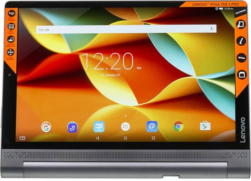 "Планшет Lenovo Yoga Tablet 3 Pro YT3-X90L Atom x5-Z8500 (1.44) 4C/RAM4Gb/ROM64Gb 10.1"" IPS 2560x1600/3G/4G/Android 5.1/черный/13Mpix/5Mpix/BT/GPS/WiFi/Touch/microSDXC 64Gb/mHDMI/minUSB/10200mAh/18hr/до 1176hrs"