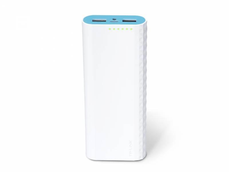 Мобильный аккумулятор TP-Link TL-PB15600 Li-Ion 15600mAh 2.4A+2.4A белый 2xUSB