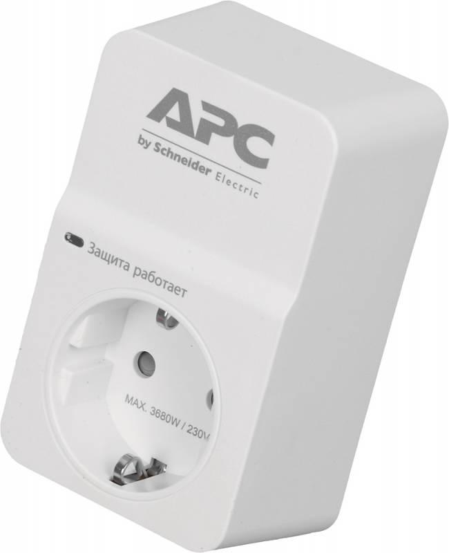 Сетевой фильтр APC PM1W-RS (1 розетка) белый (коробка)