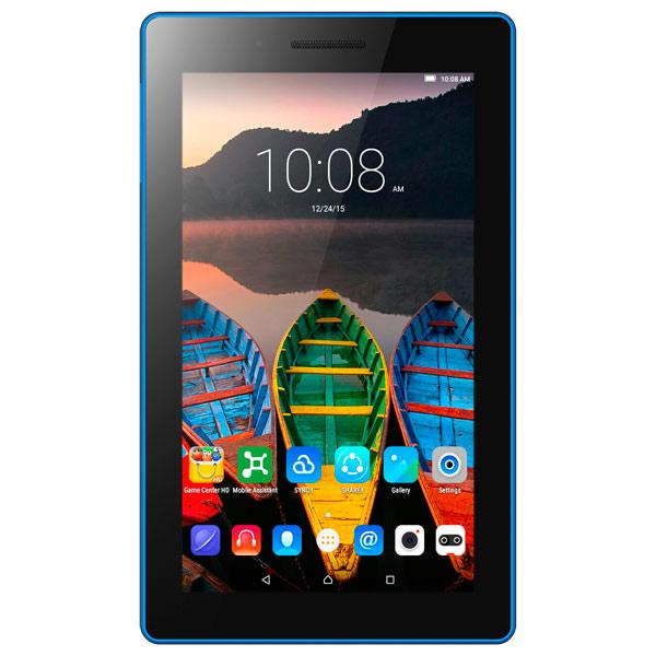 "Планшет Lenovo Tab 3 TB3-710i MT8321 (1.3) 4C/RAM1Gb/ROM8Gb 7"" IPS 1024x600/3G/Android 5.1/черный/2Mpix/0.3Mpix/BT/GPS/WiFi/Touch/microSDHC 32Gb/minUSB/3450mAh"