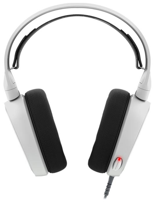 Наушники с микрофоном Steelseries Arctis 5 белый 3м мониторы оголовье (61444)