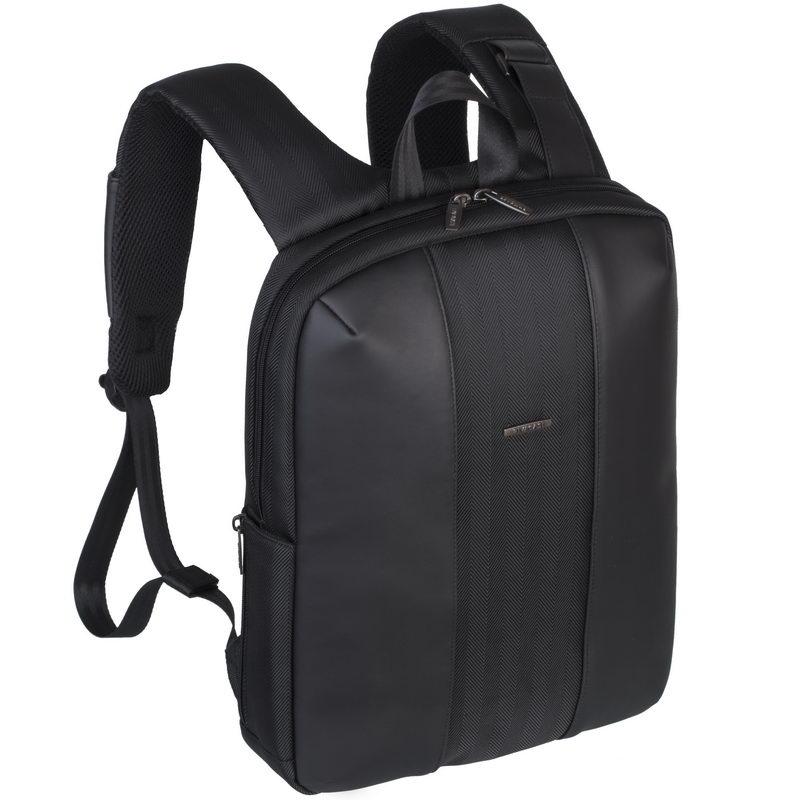 """Рюкзак для ноутбука 14"""" Riva 8125 черный полиуретан/полиэстер"""