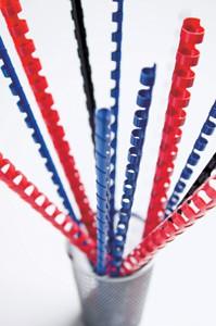 Пружины для переплета пластиковые Fellowes d=8мм 21-40лист A4 белый (100шт) CRC-53454 (FS-53454)