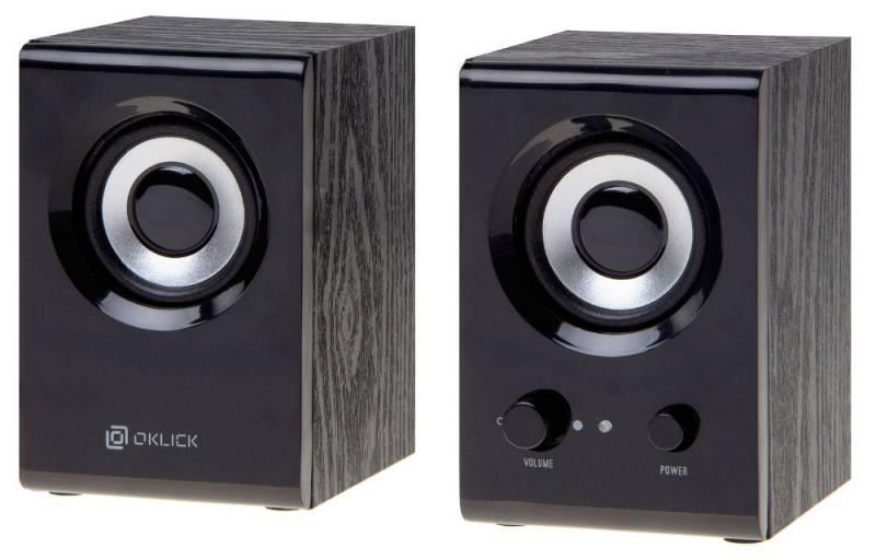 Колонки Oklick OK-160 2.0 черный 6Вт