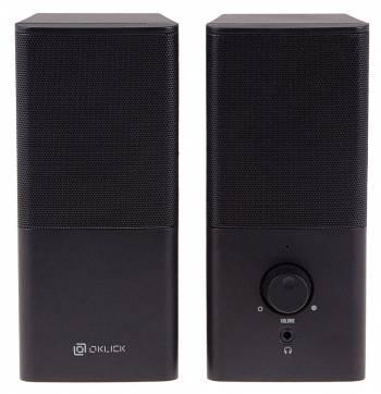Колонки Oklick OK-128 2.0 черный 6Вт