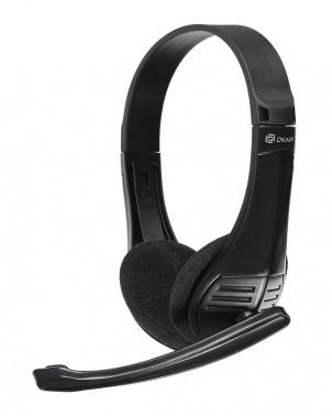 Наушники с микрофоном Oklick HS-M150 черный 2.2м накладные оголовье (NO-003N)