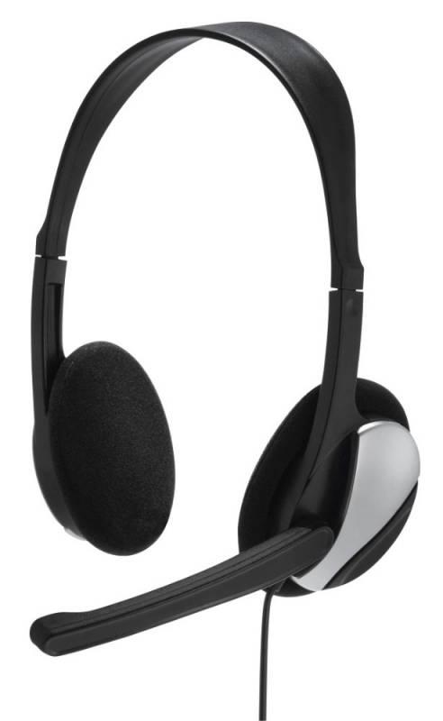 Наушники с микрофоном Hama Essential HS 200 черный 2м накладные оголовье (00139900)