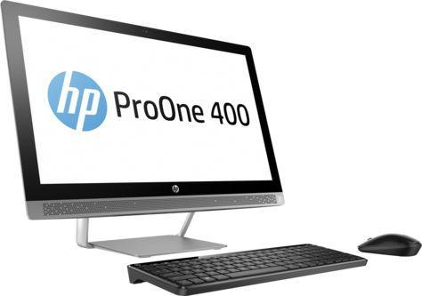 "Моноблок HP ProOne 440 G3 23.8"" Full HD i5 7500T (2.7)/4Gb/1Tb 7.2k/SSD128Gb/HDG630/DVDRW/Windows 10 Professional 64/GbitEth/WiFi/BT/120W/клавиатура/мышь/черный/серебристый 1920x1080"