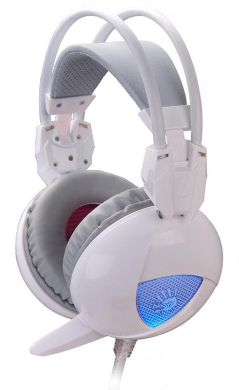 Наушники с микрофоном A4 Bloody G310 белый 2.2м мониторы оголовье (G310)