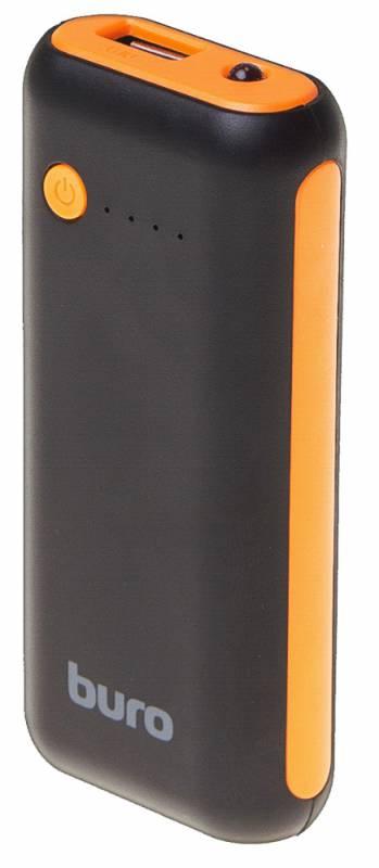 Мобильный аккумулятор Buro RC-5000BO Li-Ion 5000mAh 1A черный/оранжевый 1xUSB