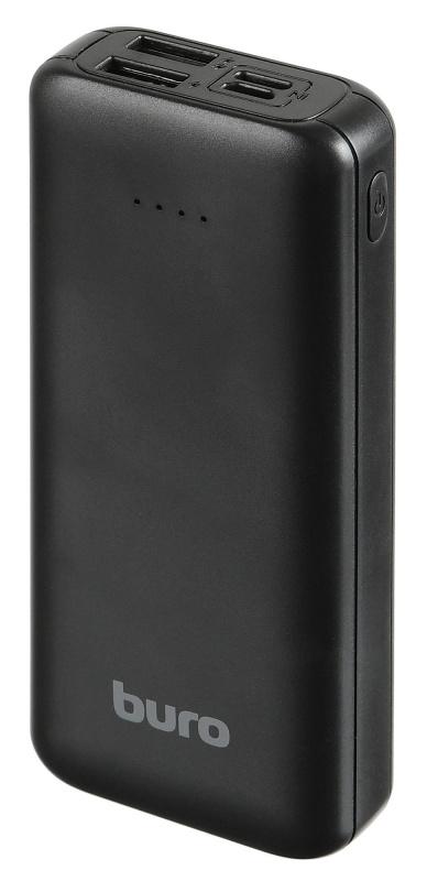 Мобильный аккумулятор Buro RA-10000SM Li-Pol 10000mAh 3A+1.5A черный 2xUSB