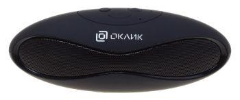 Колонка порт. Oklick OK-10 черный 3W 1.0 BT/USB 5м