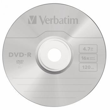 Диск DVD-R Verbatim 4.7Gb 16x Jewel case (5шт) (43519)