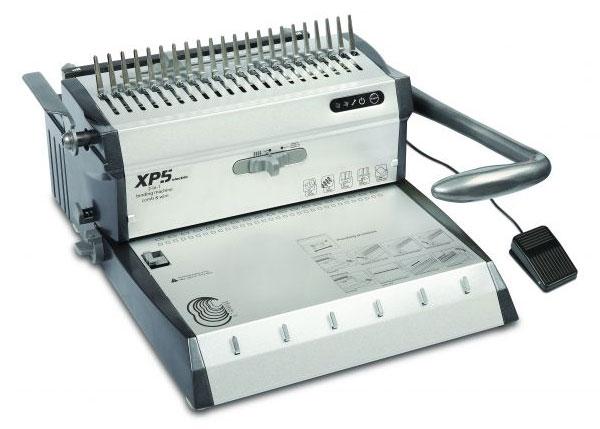 Переплетчик Gladwork XP5 A4/перф.30л.сшив/макс.500л./пластик.+метал.пруж.-51мм)/электр.