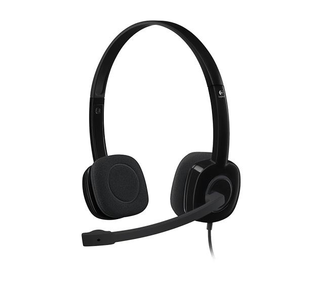 Наушники с микрофоном Logitech H151 черный 1.8м накладные оголовье (981-000589)