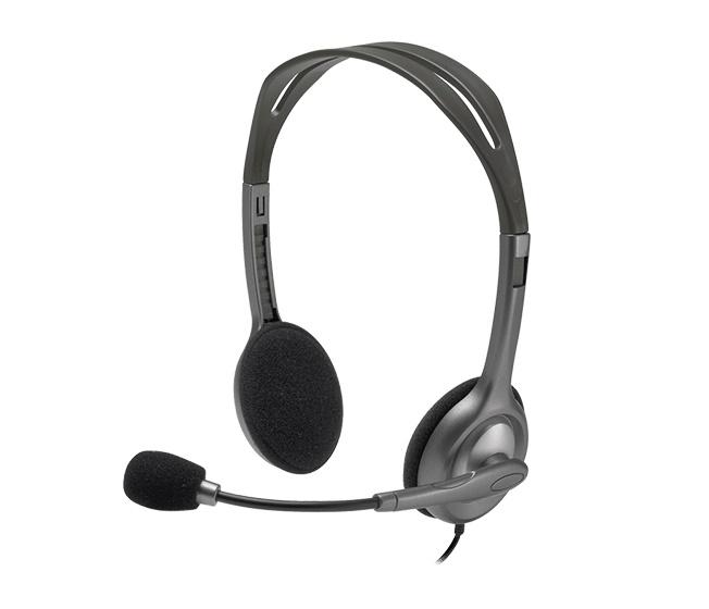 Наушники с микрофоном Logitech H111 серый 1.8м накладные оголовье (981-000593)