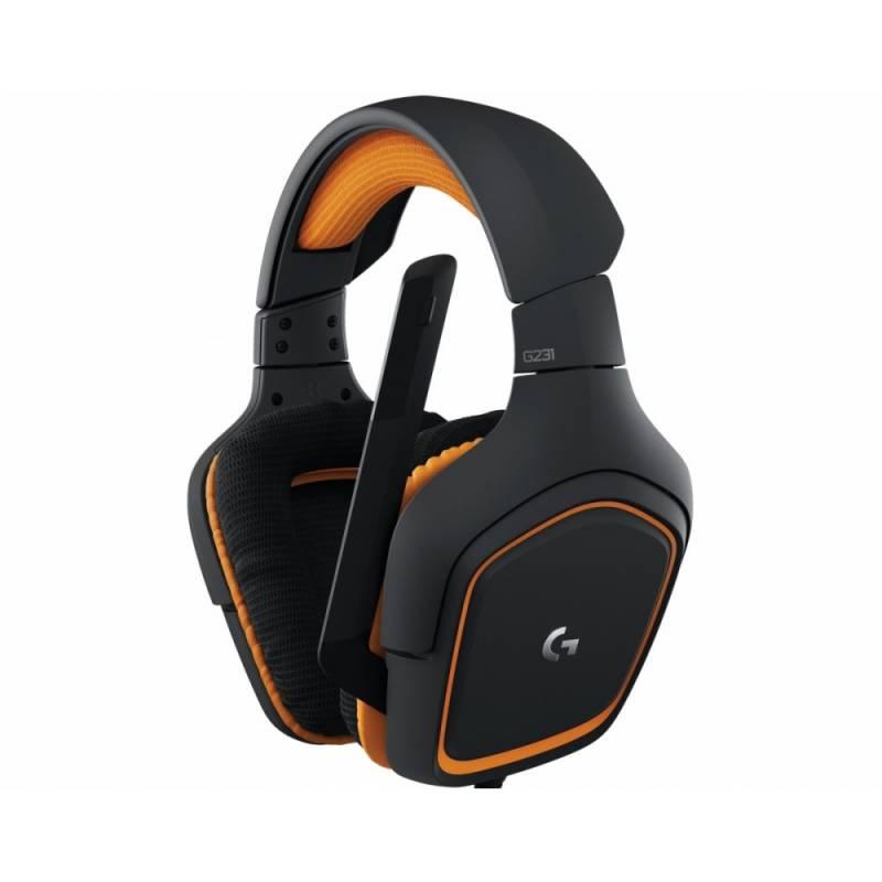 Наушники с микрофоном Logitech G231 Prodigy черный/оранжевый 2м накладные оголовье (981-000627)