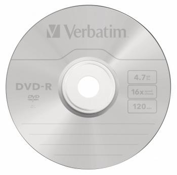 Диск DVD-R Verbatim 4.7Gb 16x Cake Box (25шт) (43522)